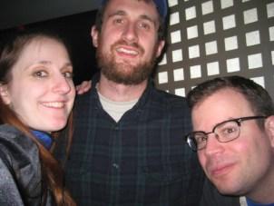 Live Show #2- L to R- Sharon Jamilkowski, Jake Goldman and Adam West.