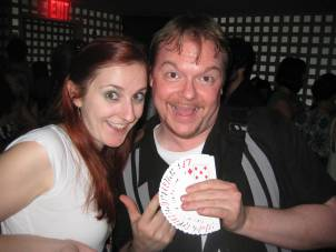 Sharon Jamilkowski with Magician Lee Alan Barrett at the Live Show on July 24th, 2010
