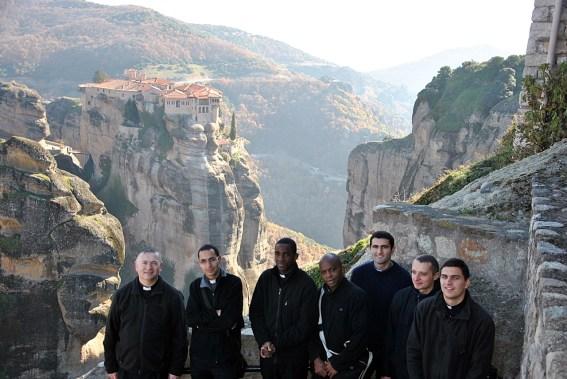 Seminarians at Meteora (Kalamata region, Northern Greece