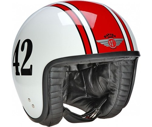 davida-retro--42-red-white-jet-helmet-ivespa-Best open face helmets balance style with protection