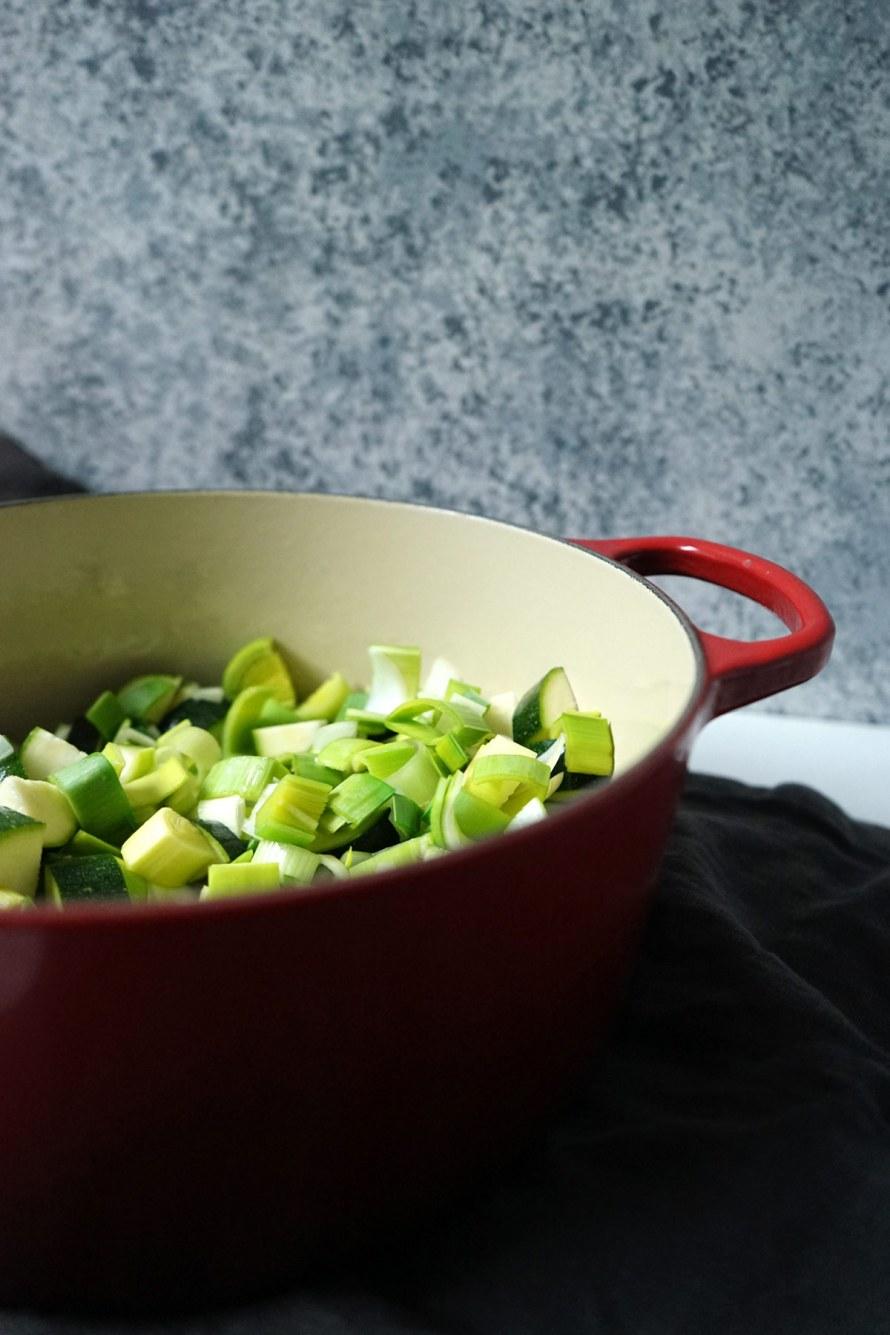 Avocado, Zucchini & Leek Soup