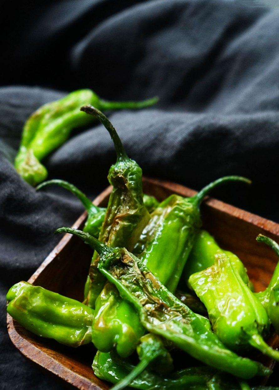 Salty Shishito peppers