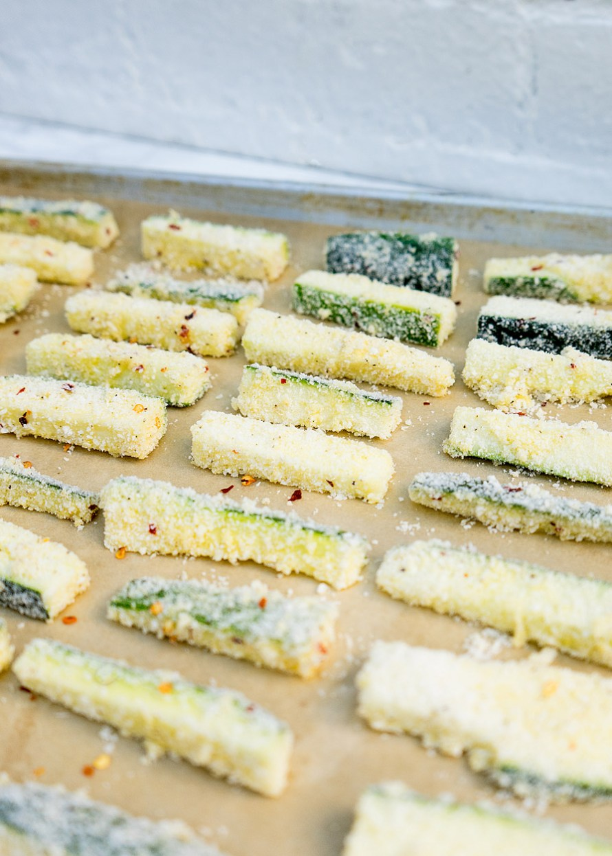 GF Parmesan Crusted Zucchini Fries