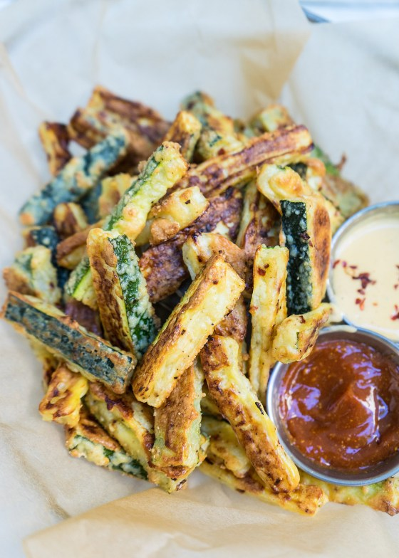 GF Parmesan Crusted Zucchini Fries