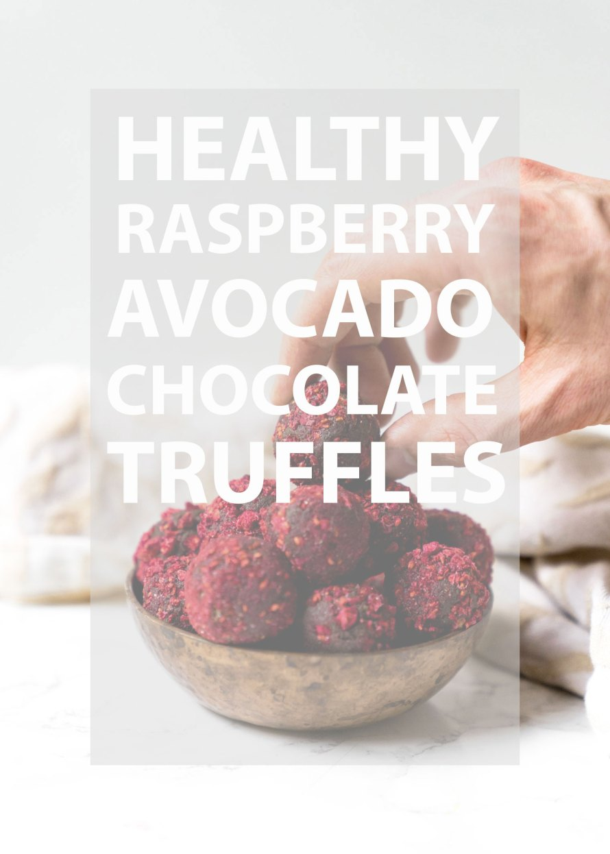 Raspberry Avocado Chocolate Truffles