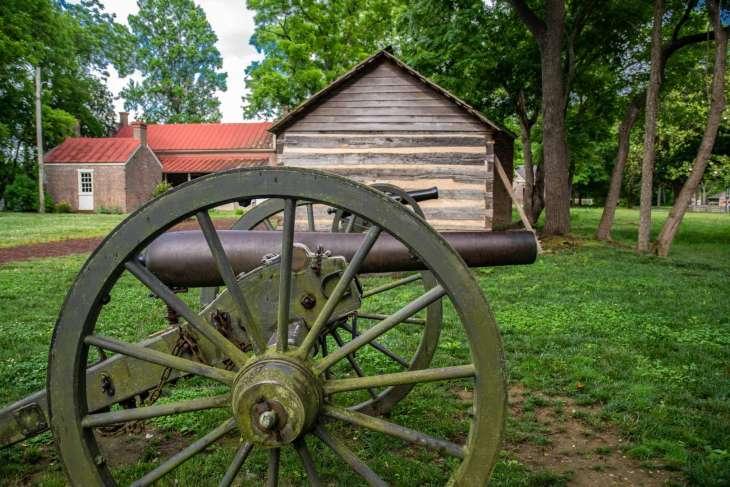 i cannoni utilizzati per la battaglia di Franklin