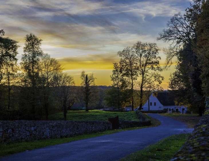 tramonto in Dordogna
