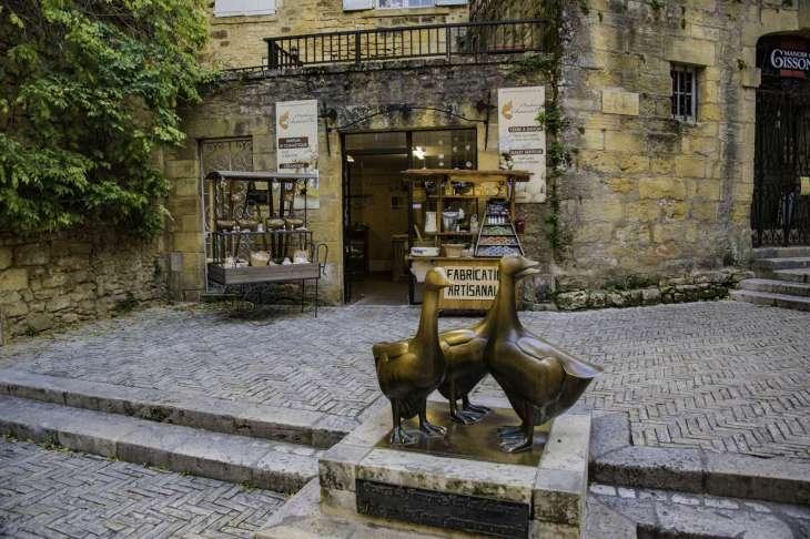 Dordogna Sarlat monumento alle oche
