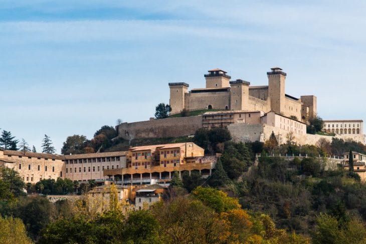 Spoleto la Rocca di Albornoz domina la città