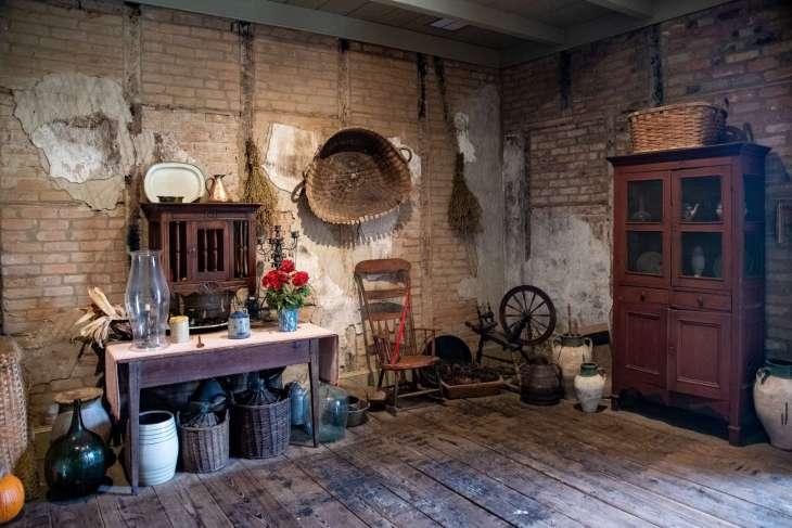 la ricostruzione di una cucina alla Laura Plantation