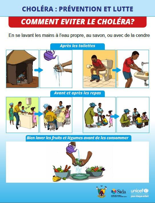 un poster spiega le regole fondamentali di igiene all'ospedale delle suore missionarie in Cameroun