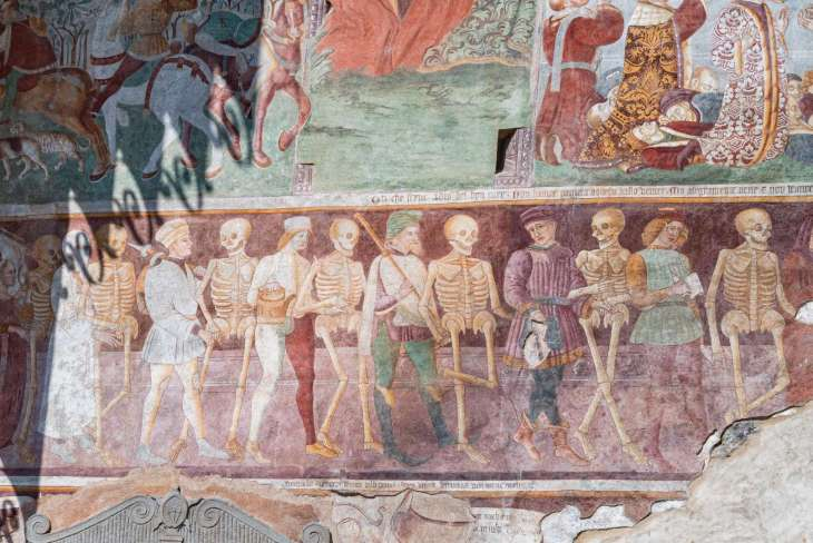 Clusone la danza macabra dell'Oratorio dei Disciplini