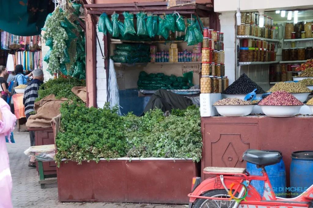 La menta nel Souk di Marrakech