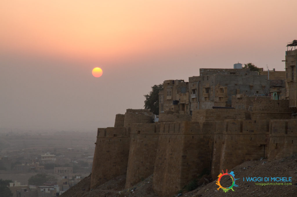 Jaisalmer, il tramonto dai bastioni