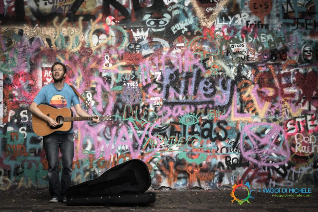 Praga - Muro di John Lennon