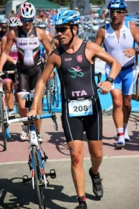 Durante una gara di Triathlon
