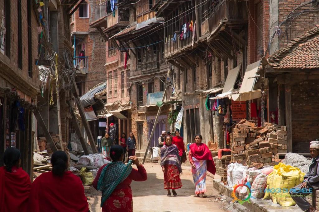 Il mio arrivo a Bhaktapur