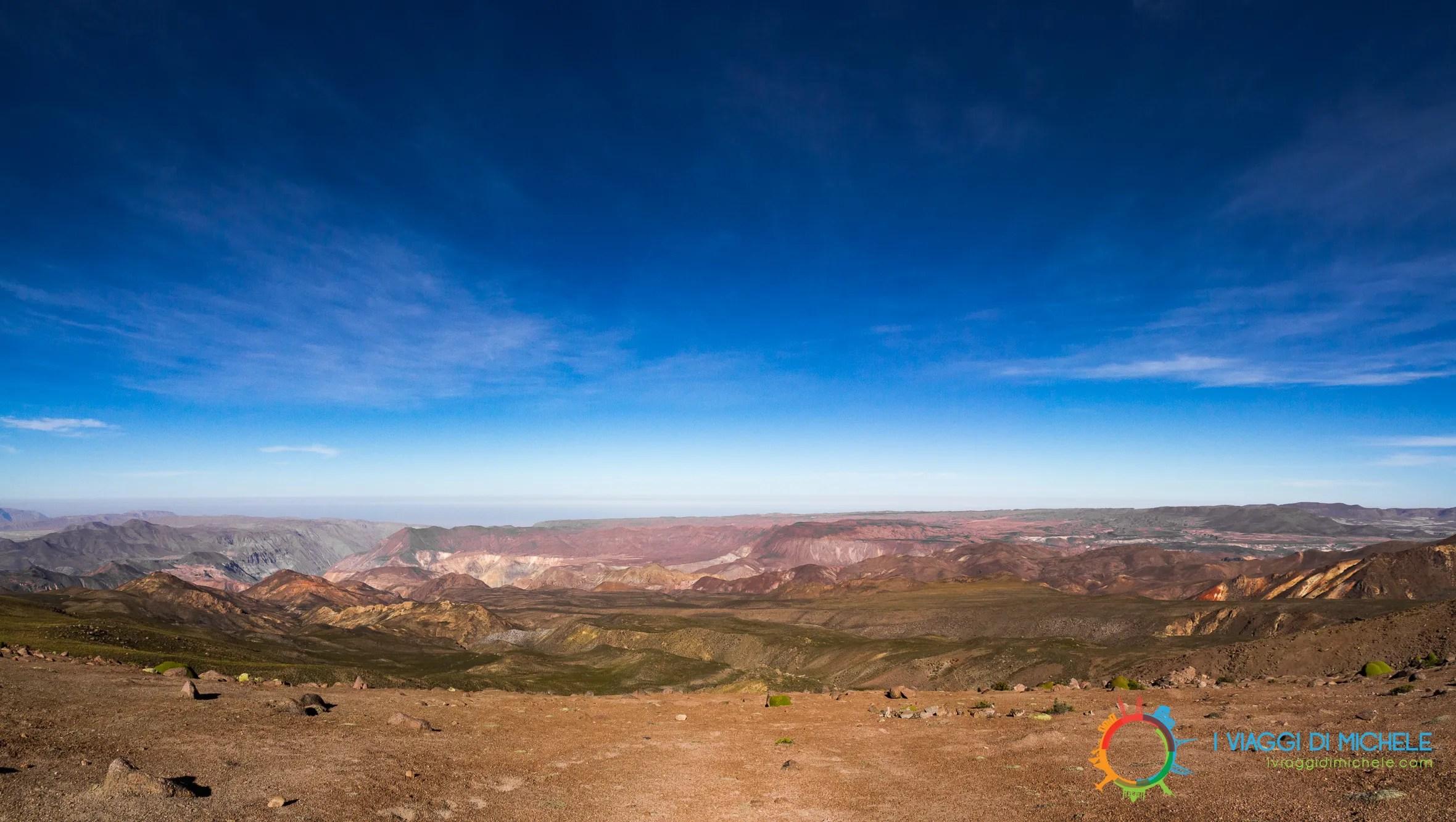 Panorama sul Canyon del Rio Lluta - Putre