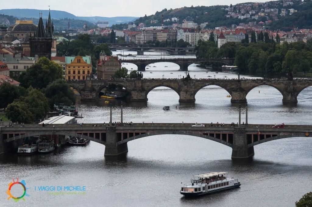 I ponti di Praga dai Giardini di Letná - Cosa vedere a Praga