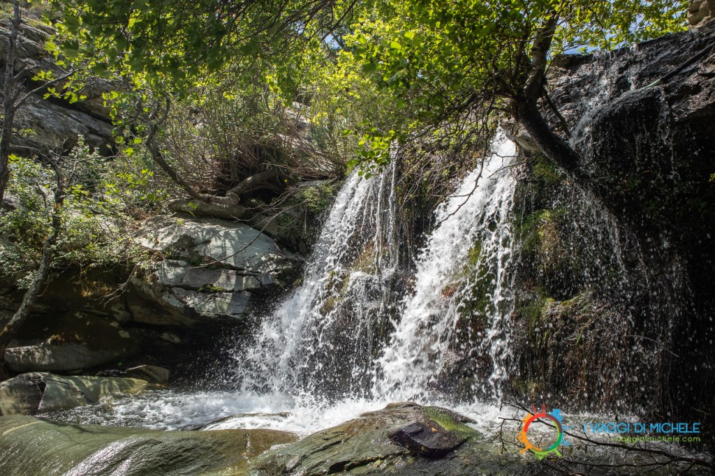 Le piccole cascate di Pythara - Isola di Andros