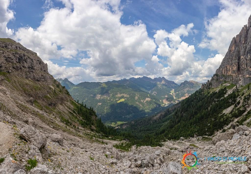 Valle del Primiero dal sentiero 721 - Trekking al Rifugio Velo della Madonna