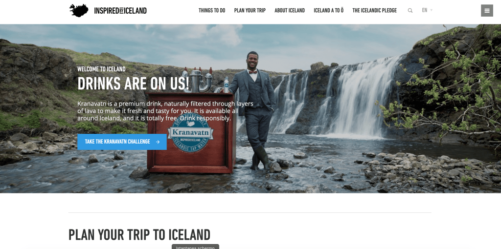 "Sito Ufficiale del Turismo Islandese ""Inspired By Iceland"""