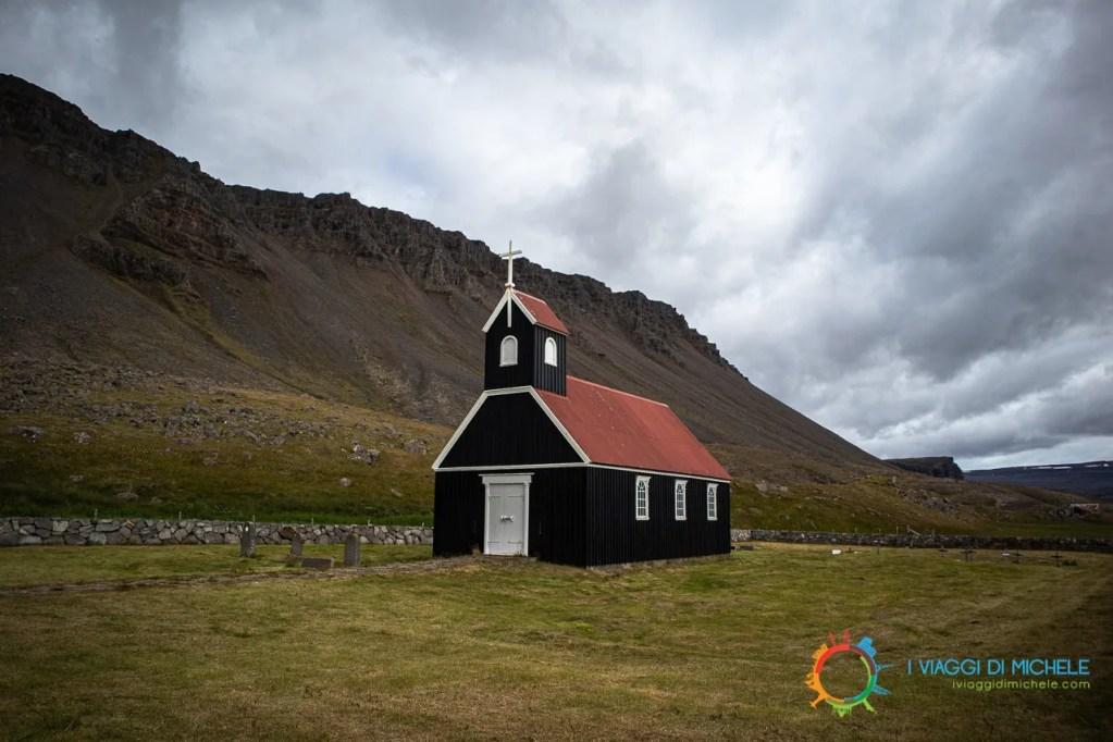 chiesetta nera Saurbæjarkirkja - Fiordi Occidentali Islandesi