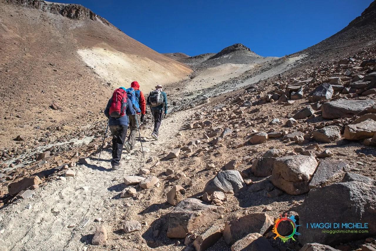 Cerro Toco, Inizio del trekking - San Pedro de Atacama
