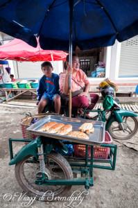Mercato Phousi Luang Prabang pane