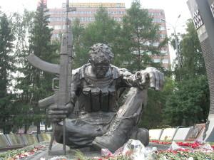 Ekaterinburg monumento ai caduti in Afghanistan