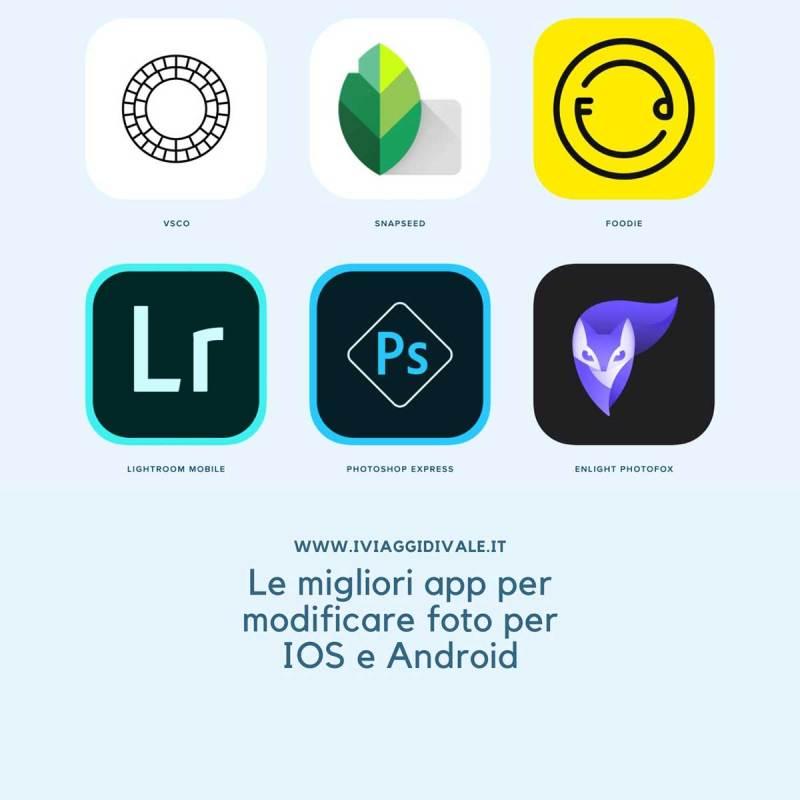app per modificare foto Instagram per IOS e Android
