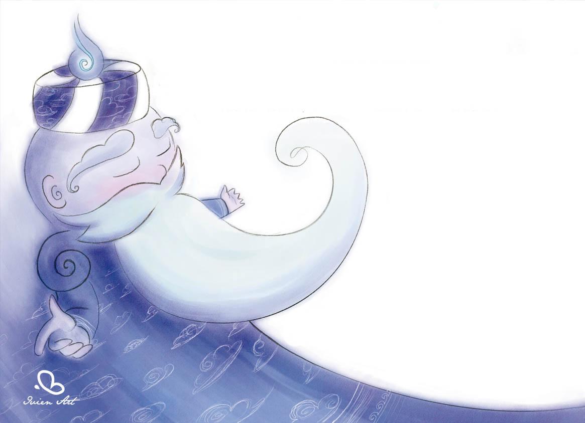 valentina lauria - ivien art - il mago blu del barbagianni