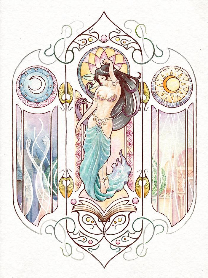 valentina lauria - ivien art - le mille e una notte