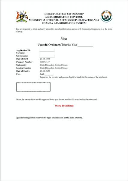 Uganda Visa Requirements For Canadian Citizens