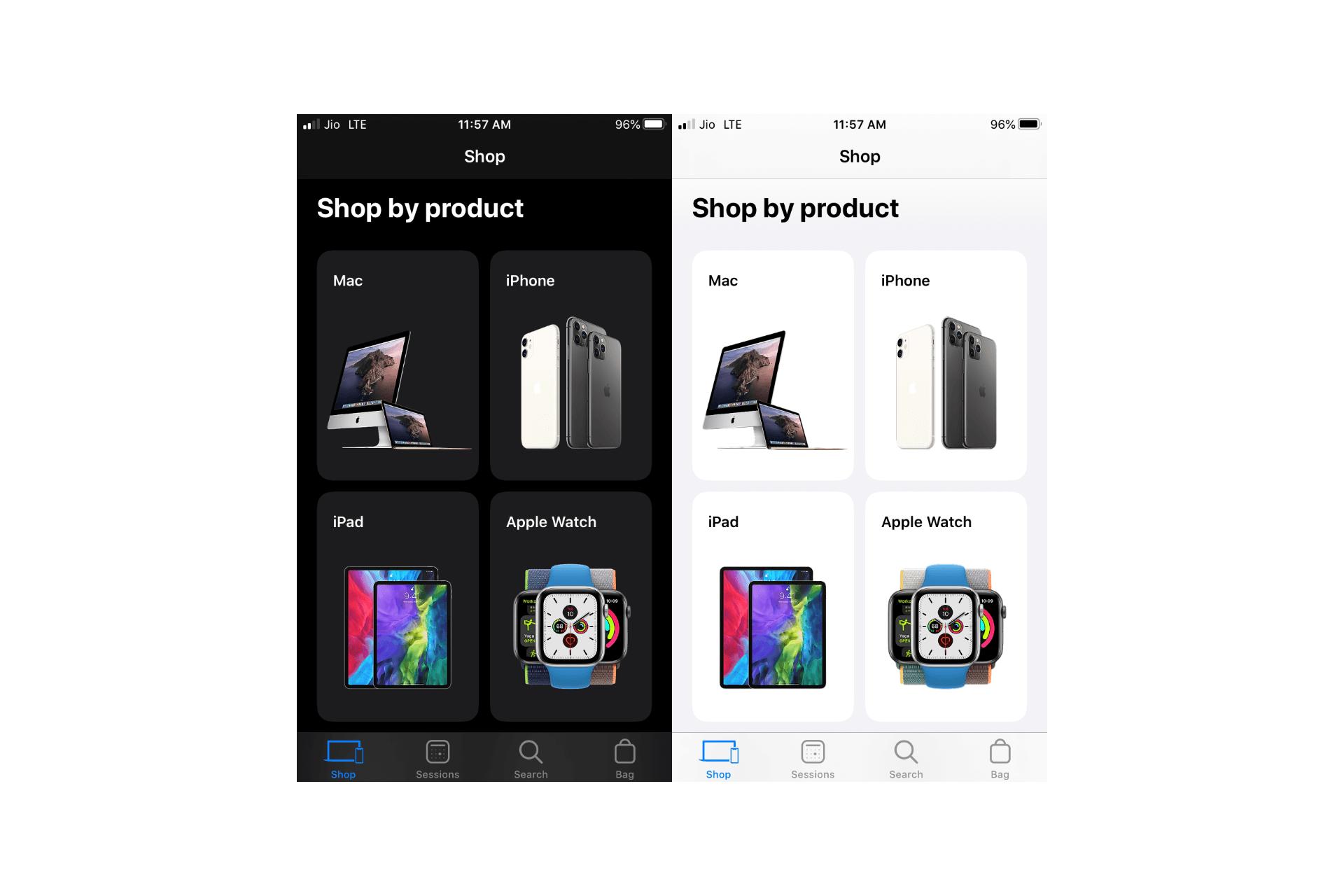Apple Store App Now Support Dark Mode