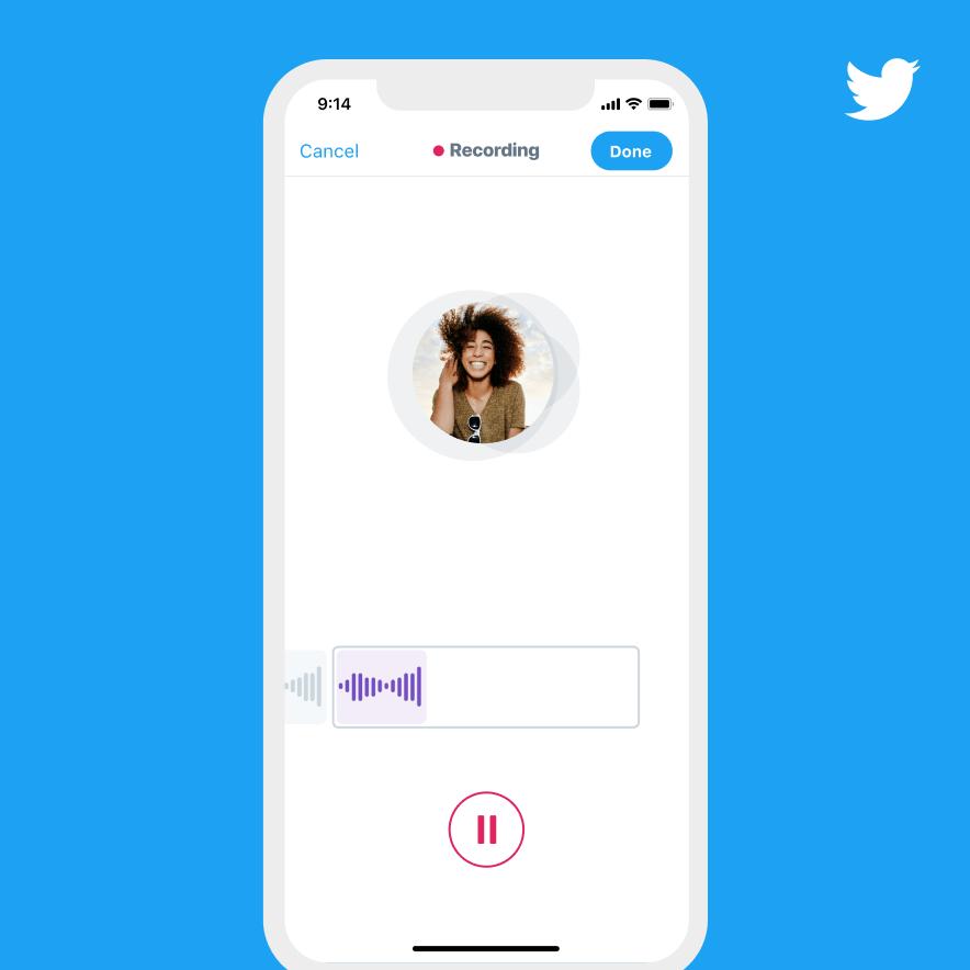 Recording a voice Tweet