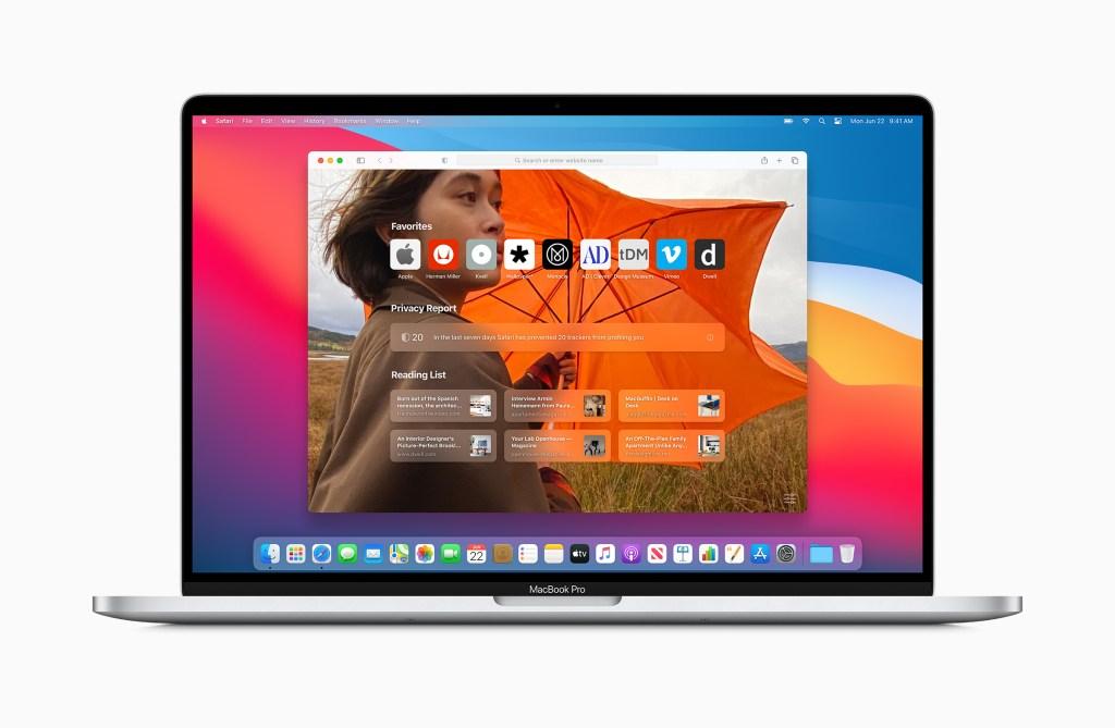 Safari in macOS Big Sur