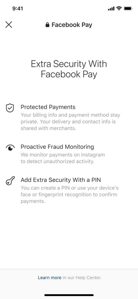 Facebook Pay Privacy and Security
