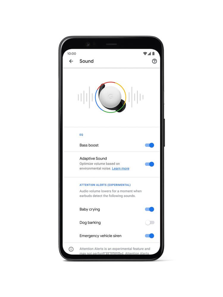 Google Added Bass Boost and Sharing Detection to Pixel Buds