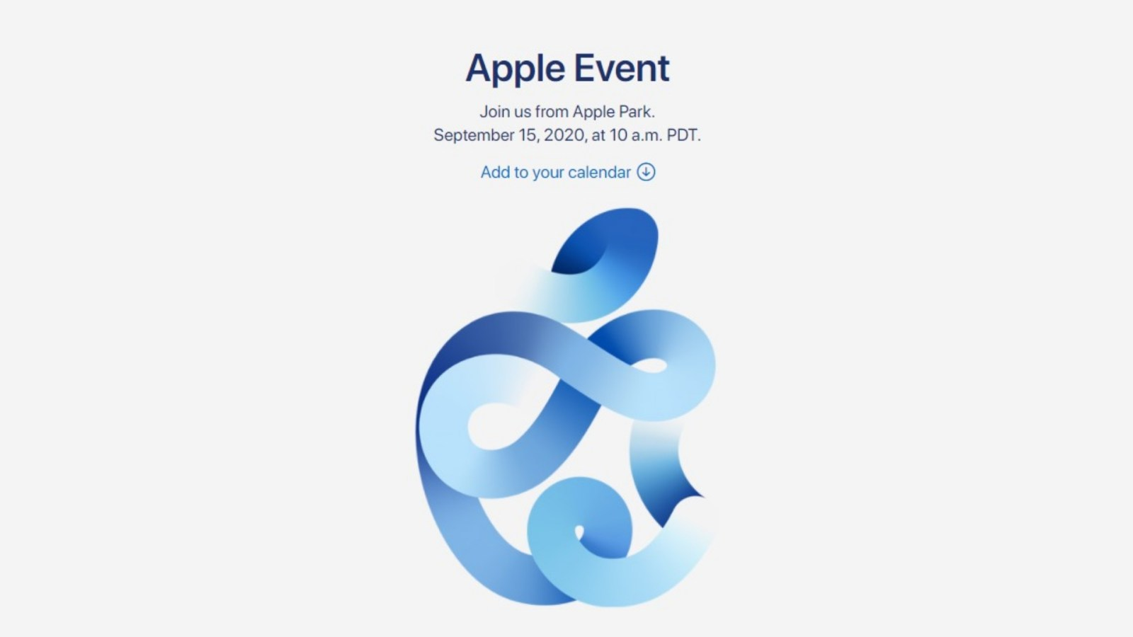 Apple Officially Announces Virtual Event for September 15, What You Expect