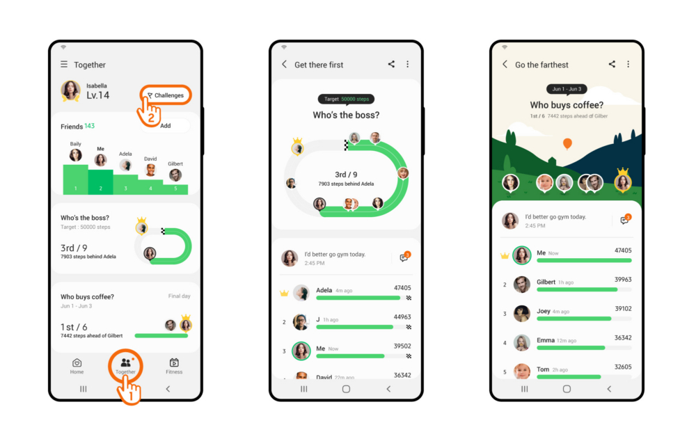 Samsung added the Group Challenge feature in the Samsung Health app