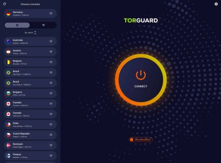 TorGuard Update UI Design for iOS app