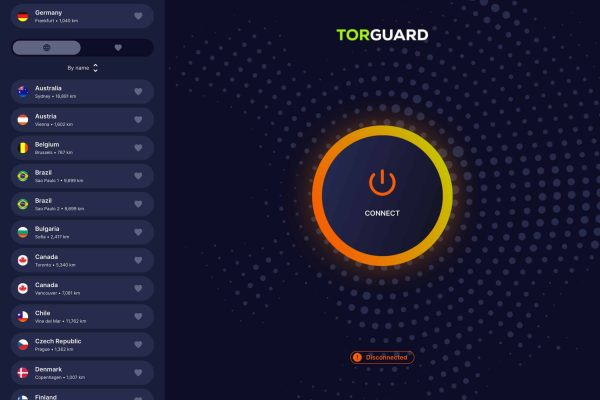 TorGuard Update UI Design for iOS app