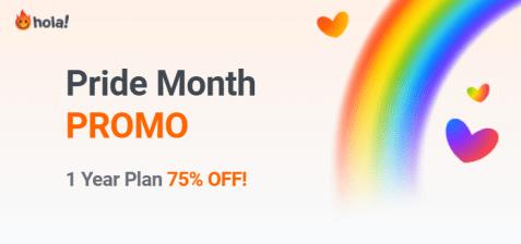 Pride Month Special: Get 75% off on Hola VPN