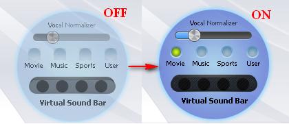 Activate Virtual Sound Bar
