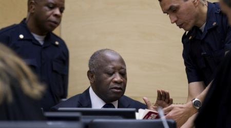 Le Président Laurent Gbagbo le 05 décembre 2011 à La CPI.