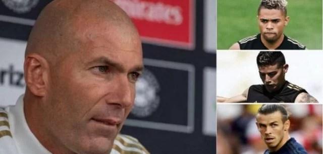 Réal Madrid: Zidane envoie un message clair à Bale, James Rodriguez et Mariano Diaz