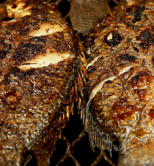 poisson braisé ivorian food