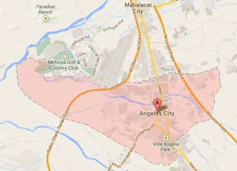 Map of Angeles City, Pampanga | Angeles City Barangay Elections 2013