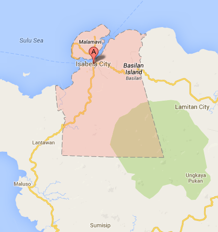 Map of Isabela City | Isabela City Barangay Elections 2013